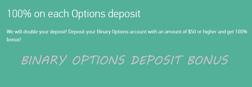 100% on each deposit binary bonus