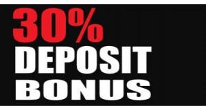 30% FX deposit bonus