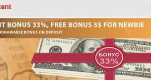Register to get $5 no-deposit-bonus