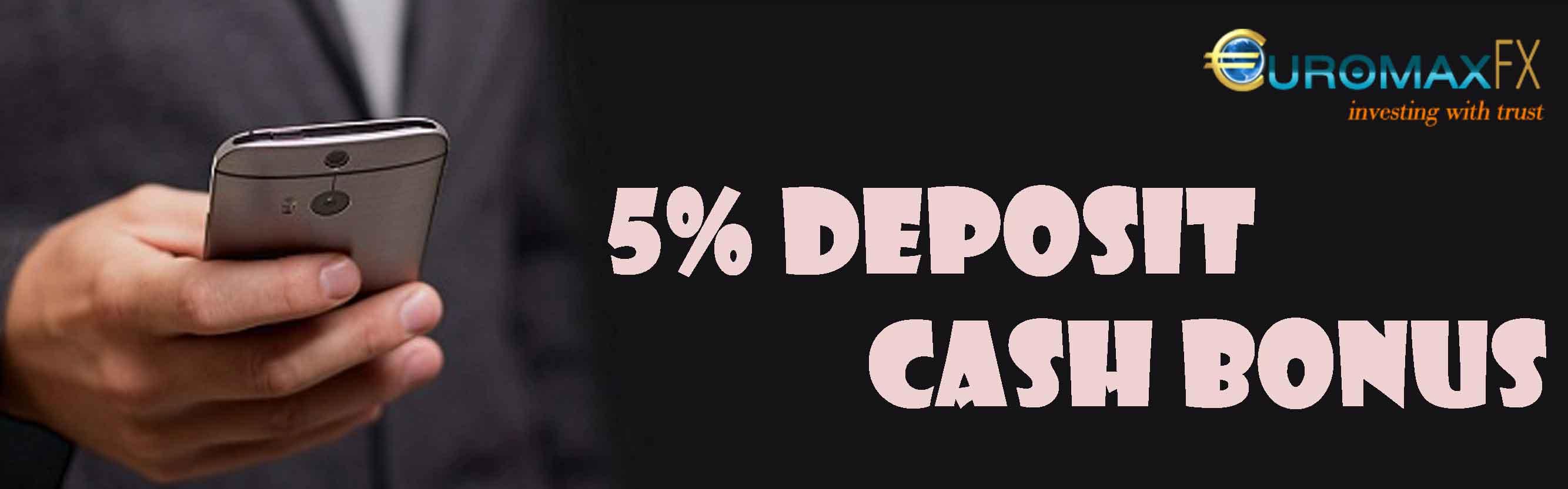 euromaxfx Deposit Cash Bonus